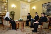 Интервью Святейшего Патриарха Кирилла японским журналистам