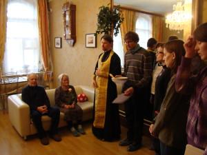 Посещение дома престарелых участниками молодёжного клуба