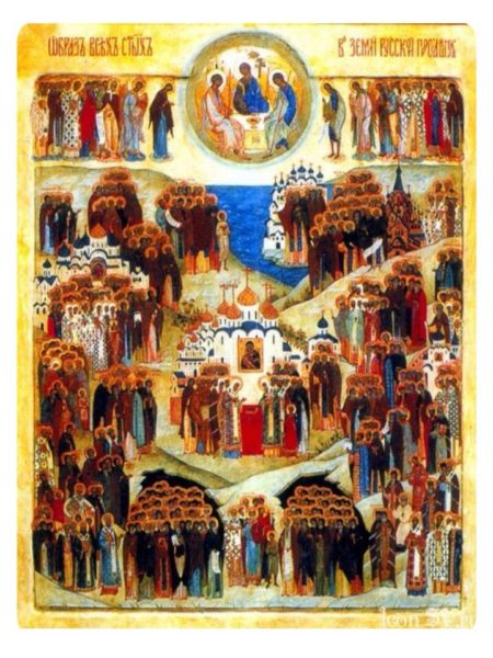 Молебен на месте строительства храма Порт-Артурской иконы Божией Матери