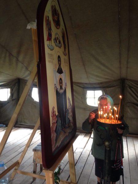 Молебен на месте строительства морского храма