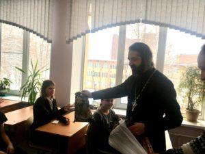Протоиерей Михаил Браверман и прихожане нашего храма поздравили воспитанников ГБОУ «Центр образования №167» с Рождеством